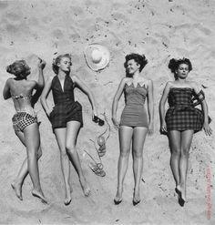 40's, 50's, 60's #retro #swimwear #summer #fashion #beach