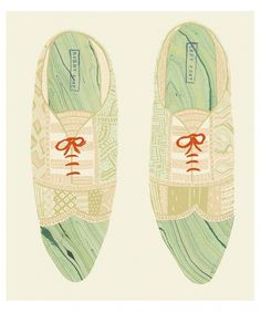 Danielle Kroll #illustration #shoes