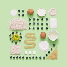 Patterned food arrangements for Panera Bread. David Chow & Haruko Hayakawa