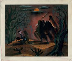Legend of Sleepy Hollow development sketch by Mary Blair