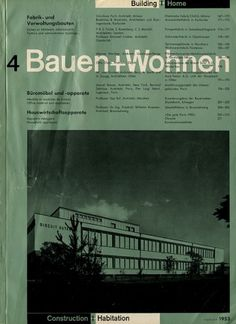 Bauen+Wohnen: Volume 02, Issue 04 | Flickr - Photo Sharing! #swiss #design #graphic #cover #grid #bauen+wohren #magazine #typography