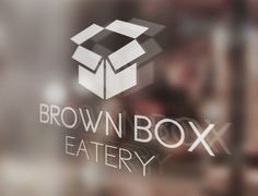 Brown Box Eatery Logo by Matt Hodin www.Behance.net/MattHodin #eatery #design #box #restaurant #brown #window #logo