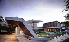 Spectacular Geometry Displayed by Andrew Road House in Singapore