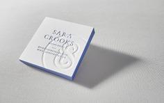 Square Letterpress Business Card