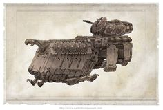 Vehicles: Norse APC #robot #fantasy #sci-fi #wwwkeiththompsonartcom