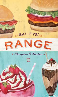 Art of the Menu: Bailey's Range #illustration #vintage