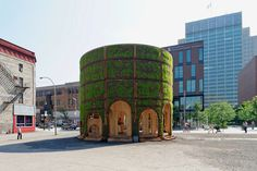 raumlabor plants living fountain house pavilion in montreal #interactive