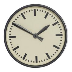 Mavis Black Metal Round Wall Clock, 33 cm D