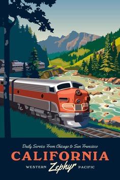 California Zephyr Train Poster Unframed image 1