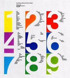 Swiss Graphic Design 64 / Maryellen McFadden picture on VisualizeUs #negative space #numbers #swiss design