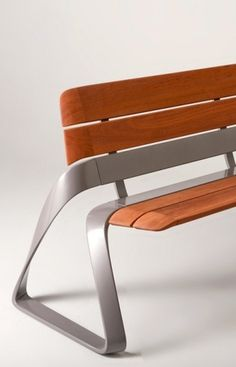 Slender space bench #design #bench #metro