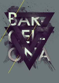 Barcelona #tape #illustration #giga #kobidze #typography