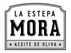 Dribbble - La Estepa Mora Olive Oil by Juanjo Marnetti #lettering #olive #drop #vintage #logo #oil
