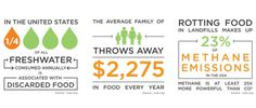 Food Waste Infographic #fabrack #veggie #vegetable #water #family #fruit #trash #waste #food #organize #display #preserve #kitchen #foodwaste #produce #organization