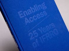 Enabling Access / 25 Years of IFRRO #cover #blue #design #graphic
