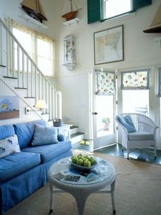 Nautical » theLENNOXX (4) #blue #sofa