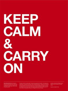 Keep Calm & Carry On Poster (Red) #inspiration #creative #british #carry #design #graphic #calm #grid #system #on #poster #keep #typography