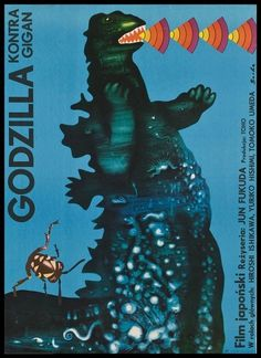 Pink Tentacle #czech #godzilla #classic japanese monster #movie posters #polan