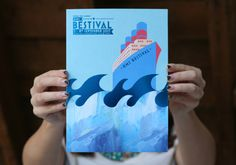 Bestival programme 2013 #them #book #blue #layout #editorial #foil