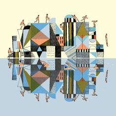 josh-cochran-2.jpg (470×470) #geometry #illustration #patterns #cityscape