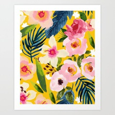 No Winter Lasts Forever; No Spring Skips It's Turn #painting #botanical Art Print
