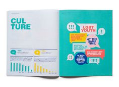 LGBT Youth Report - Matt Chase | Design, Illustration #print #layout #design #typography