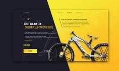 Electric bike concept UI