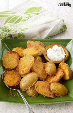 Crispy Parmesan Baked Potatoe #parmesan #potatoe #baked #crispy