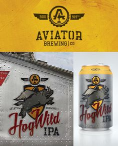 personal, logo, beer, airplane, hog, illustration, yellow, wings, military, A, stencil