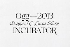 Ogg — designed by Lucas Sharp & the P&S 2013 printed collection