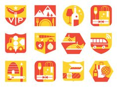 Vancouver #illustration #color #icons