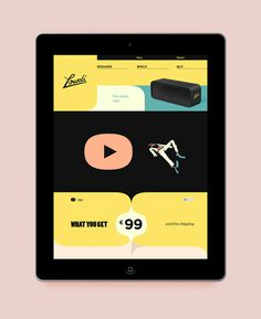 A box called Lowdi on the Behance Network #ipad #web #webdeisgn