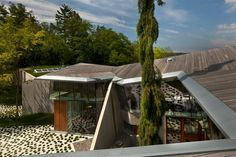 Omer Arbel Office #omer #arbel #wood #roof #architecture #exterior