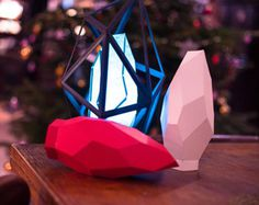 Papercraft Lamp - Like a Diamond