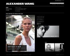 Alexander Wang on Web Design Served #xwcwxc
