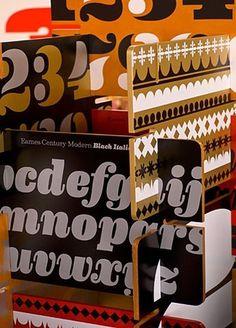 FFFFOUND! #graphic design #numerals #house industries #lettering #ind