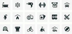Sodafish - Hotel amenities #sodafish #isotype #icons #symbols