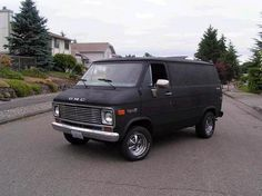 BLACK #van #vannin #chevy #black