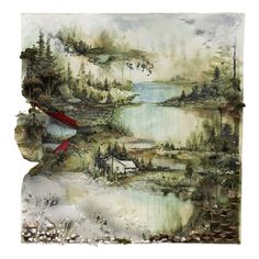 All sizes | Bon Iver, Bon Iver Cover Art | Flickr - Photo Sharing! #album #landscape #cover #painting #art