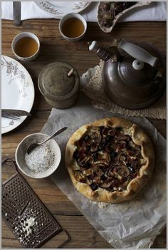 Thyme: A Savory Galette with Sautéed Mushrooms, Thyme, and Briny Olives...for Sunday Supper #food