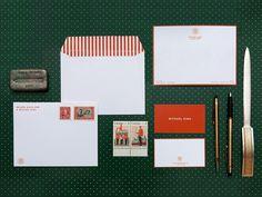 David Hew & Michael King #stationary #design #branding