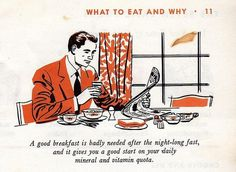 You're Darn Right I Need a Good Breakfast After Last Night | Flickr - Photo Sharing! #illustration #advice