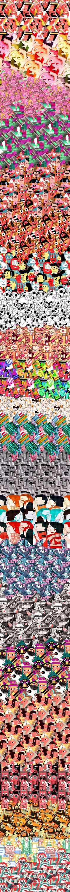 Patterns 2014 on Behance #abstract #pattern #repeat #illustration #colors