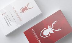Everlong Design business cards #deer #business #branding #card #stag #identity