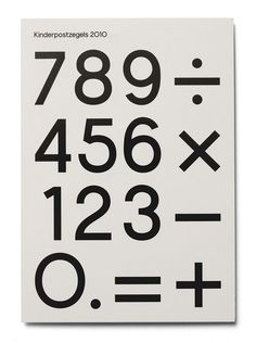 exj card #print #numbers #typography #numerals #geometrictype