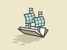 Dribbble - Nautical Knowledge V3 by Michael Spitz #branding #book #ship #identity #logo