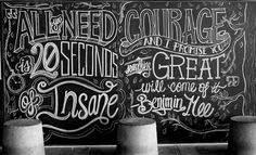 CJWHO ™ (scott biersack | inspirational chalkboard...) #design #chalkboard #illustration #art #typography