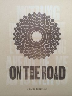 On the Road Letterpress Poster #letterpress #quotes #vintage #type #typography
