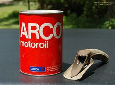 Vintage Arco Motor Oil Can