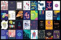 130 in 1 Poster & Flyer Design Templates Bundle on Behance